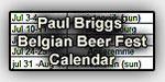 Paul Briggs' Belgian Beer Fest Calendar